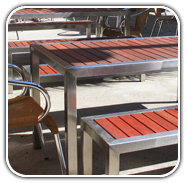 Outdoor furniture at Caffe Sienna Commercial Furniture by Design